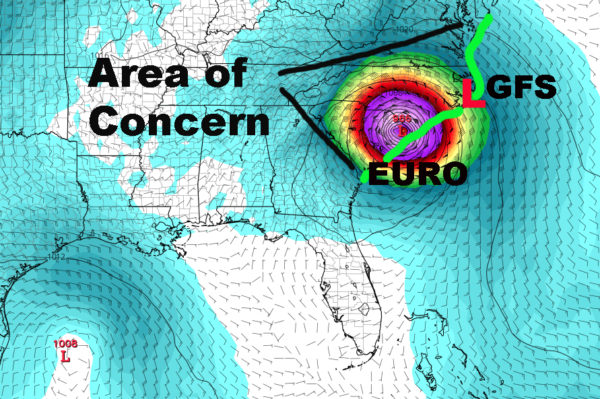Hurricane strengthens to Category 4, on track to barrel into Carolinas