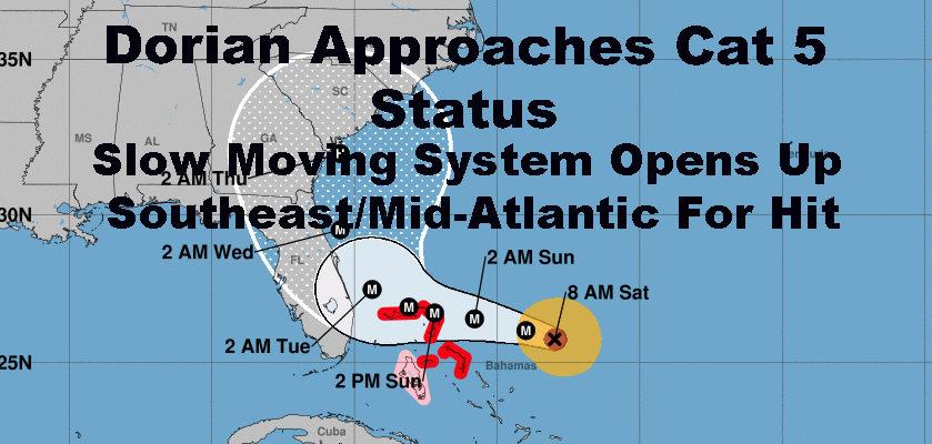 Slow Moving Hurricane Dorian Stirs Memories Of Hurricane